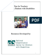 tips for teachers students w disabilities