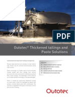 OTE Outotec Thickened Tailings and Paste Solutions