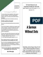 A Sermon Without Dots