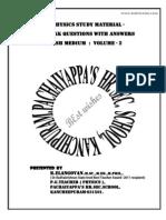 2 Physics One Mark Em Volume II