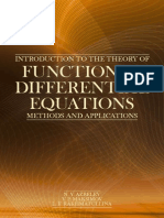 Functional Differential Equations