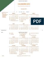 Calendário 2013 com Feriados - Calendário 2013