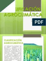 CLASIFICACIÓN AGROCLIMÁTICA