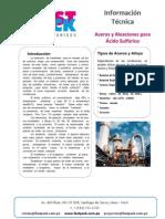 Aceros Aleados Para Acido Sulfurico r
