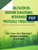 Rehabilitacion Del Sindrome de Pinzamiento Subacromial