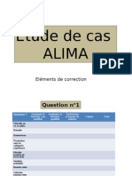 Correction Cas ALIMA