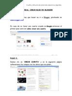 1. Crear Cuenta en Gmail y Crear Blog
