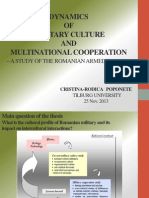 Dynamics of military culture and multinational cooperation