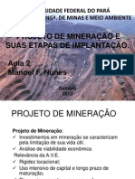 projeto de mineração