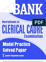 Bank clerical model paper