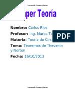 Teoremas de Thevenin y Norton