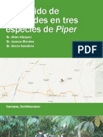 Contenido de Piperoides en Tres Especies de Piper