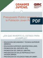 Presupuesto peruano en Juventud.ppt
