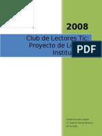 CLUB DE LECTORES TIC Proyecto.doc