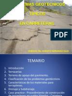 Problemas Geotecnicos Tipicos en Carreteras