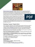 Plumbing Company Virginia Beach