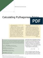 Calculating Pythagorean Triples