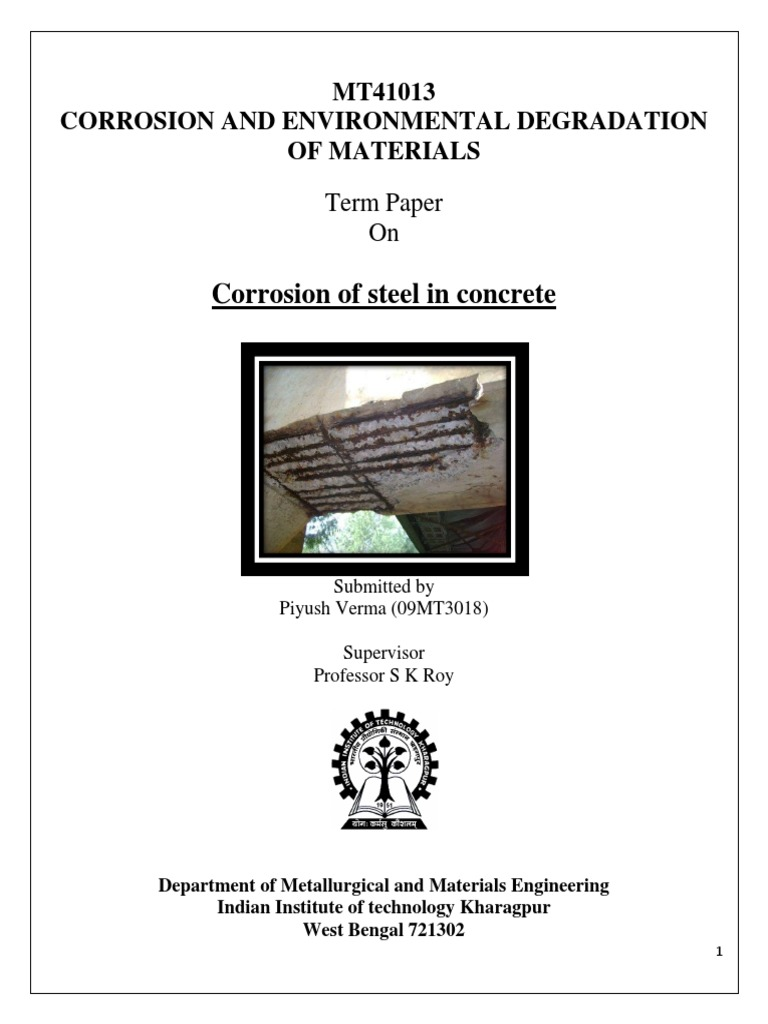 Corrosion and Environmental Degradation