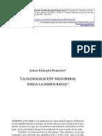 ROBLEDO Jorge Enrique - La Globalizacion Neoliberal Niega La Democracia