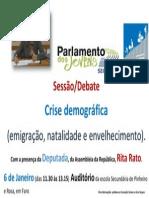 2013-14 Cartaz Do Debate de 6 de Janeiro Do Parlamento Dos Jovens.