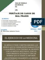 SEMINARIO N°20- PERITAJE EN CASOS DE MAL PRAXIS.pptx