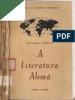 A Literatura Alemã - Otto Maria Carpeaux