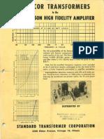 Stancor Ultra-Linear Williamson Amplifier w a-8054 Xfmr