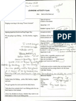 learning activiting plan with instructor notes