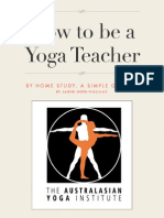 HOW to Be a Yoga Teacher by Home Study