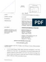 Affidavit of Michelle McQuade, Action No. 1301-14668, Filed Dec 12, 2013...