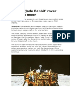 China's 'Jade Rabbit' Rover Lands on Moon