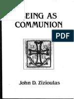 Metr. John Zizioulas - Being as Communion