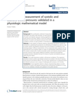Oscillometric Measurement of Systolic and Diastolic Blood Pressures Validated in a Physiologic Mathematical Model