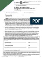 Questbridge Match Agreement Form