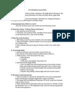 christmas lesson plan for unit plan