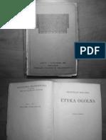Biegański Władysław - Etyka Ogólna