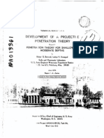 Development of a Projectile Penetration Theory. Report 1