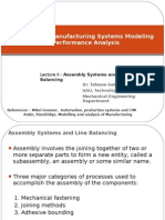 Assembly systems and assembly line balancing