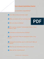 Board Committee Charter Checklist