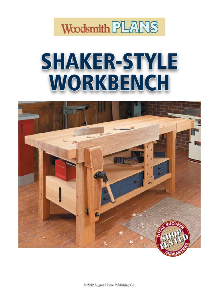 Woodsmith Shaker Style Workbench | Woodworking | Wood