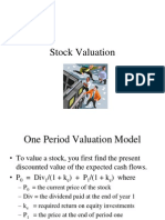 Stocks valution