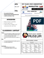 Newsletter Week 13