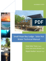 Solar Hot Water Manual for Small Hope