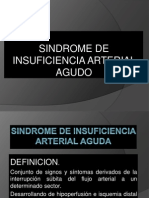 Sindrome de Insuficiencia Arterial Aguda