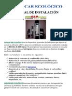 Hidrocar Ecolc3b3gico Manual de Instalacion v1 0