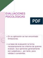 EVALUACIONES PSICOLÓGICAS