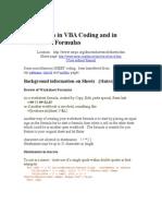 Worksheets in VBA Coding and in Worksheet Formulas