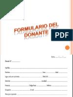Formulario Del Donante II