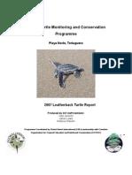 Playa Norte Leatherback Season Report 2007