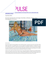 Pro-Sex Feminist Art in the Age of the War on Women. Artists Using Pornography As Source